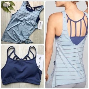 Athleta Max Out Chi Tank Low Back With Side Tie